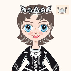 little Princess. Portrait. Avatar.