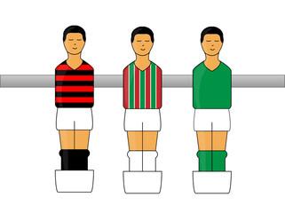 Table Football Figures with Brazilian League Uniforms 2