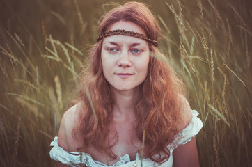 summer inspiration - a woman in hippie style