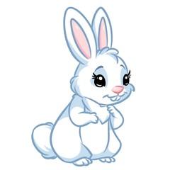 White Rabbit cartoon illustration isolated image animal character