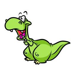 Dinosaur  cartoon illustration  isolated image animal character