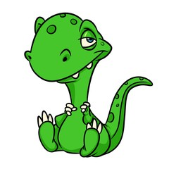 Dinosaur lizard cartoon illustration  isolated image animal character