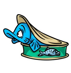 Fish conservation cartoon illustration isolated image