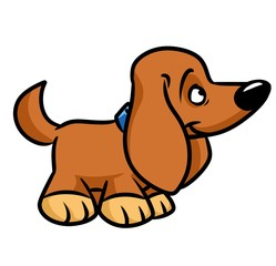 Toy dog dachshund cartoon illustration   image animal character