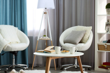 Stylish bright living room