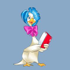 Mother Goose characters fairytale cartoon illustration