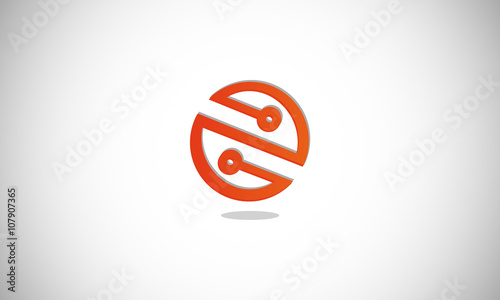 Circle Dot Connection Logo Stock Image And Royalty Free Vector