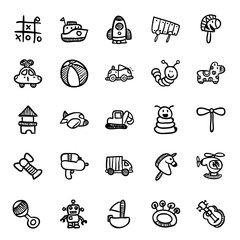 Toy drawing icon set
