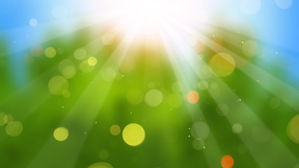 sunbeams on blurry background Wall mural