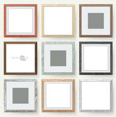 Set of wooden picture frames