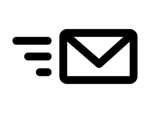 Send email message or forward email message line art icon for apps and websites