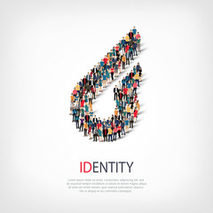 identity people sign 3d
