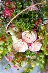 Image of beautiful colorful fresh flowers bouquet