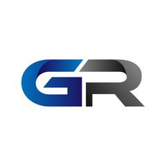 Modern Simple Initial Logo Vector Blue Grey gr