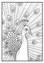 Coloring page - Peacock
