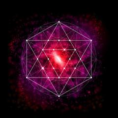 Sacred geometry. Alchemy, religion, philosophy, spirituality, hipster symbol