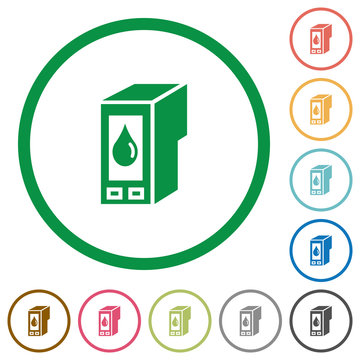 Ink cartridge outlined flat icons