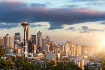 Fototapete - skyline of Seattle