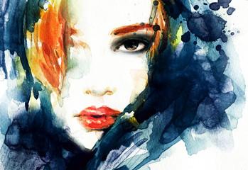 Wall Mural - Woman face. Fashion  illustration