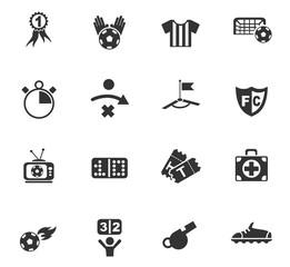 football icon set
