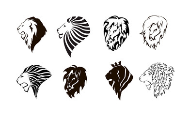 Lion head logo.