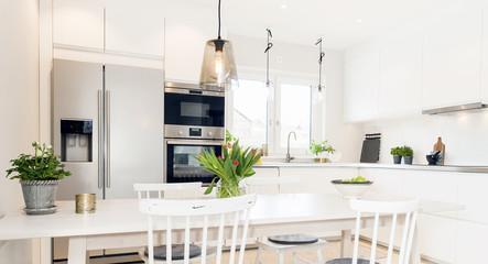 horizontal banner of fancy kitchen interior
