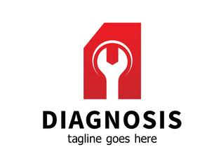 Auto diagnostic service logo