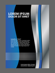 Abstract flyer vector background