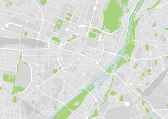 Vektor Stadtplan von München