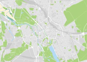 Vektor Stadtplan von Hannover