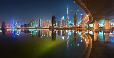 Dubai Downtown Colorful Reflection