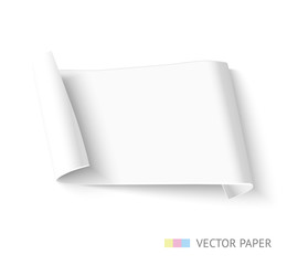 Paper roll banner