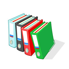 A4 Ring Binder Folders. Vector illustration icon of Folders for document organization and storage.