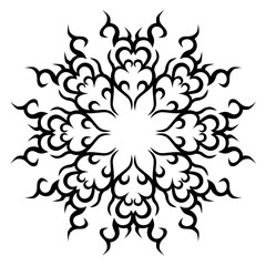 Tattoos. Stencil. Patterns. Design. Ornament. Abstract black and white pattern for a different design.