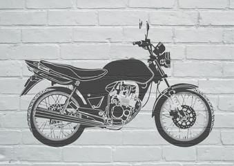 Street art, moto
