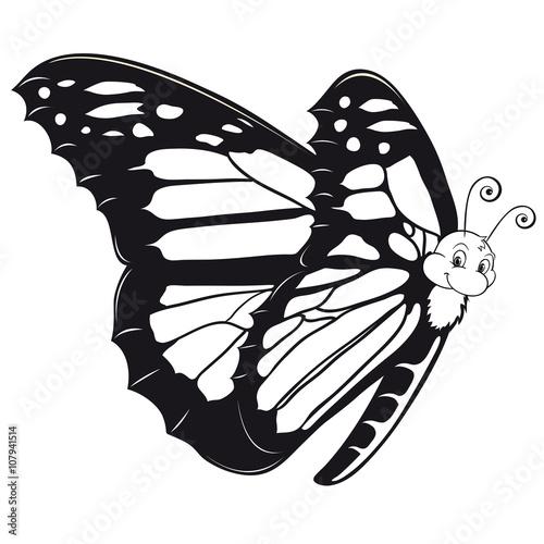 beautiful Butterfly Outlines Schmetterling Ausmalbild\