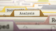 Analysis Concept on Folder Register in Multicolor Card Index. Closeup View. Selective Focus. 3D Render.