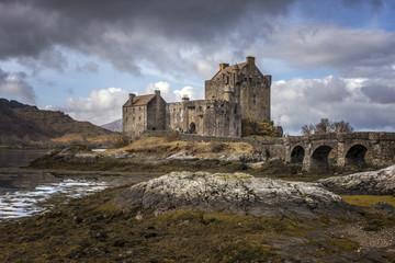 Moody Sky behind Eilean Donnnan Castle