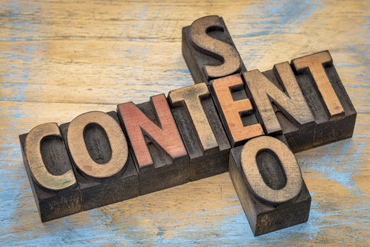 content and SEO crossword