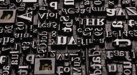 Metal Letterpress Types