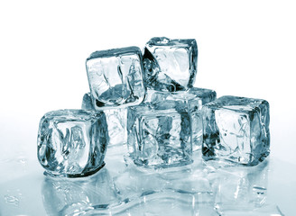 group of ice cubes