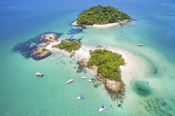 Aerial view of Cataguases Island in Angra dos Reis, Rio de Janeiro, Brazil. Wall mural