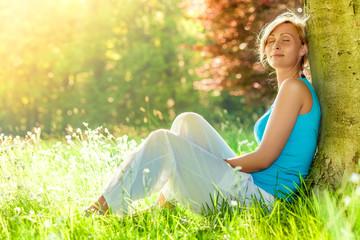 Foto auf Acrylglas Entspannung relaxing allergic