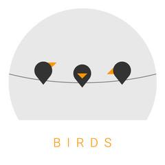 Vector Minimal Poster: Birds