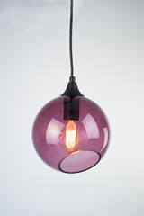 Buble violet pendant lamp