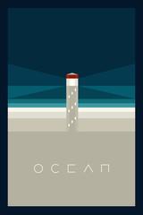 Vector Minimal Poster: Ocean