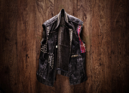 Old-school punk-rock leather jacket