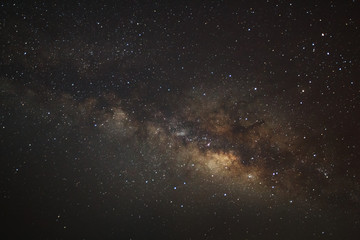 The center of the milky way galaxy, Long exposure photograph,wit