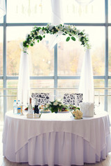 wedding table for the newlywed
