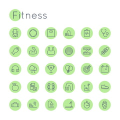Vector Round Fitness Icons